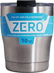 Zero Degree Stainless Steel Tumbler with Lid, Double Wall Vacuum Insulated Travel Mug for Hot and Cold Drink (10oz Y Model)