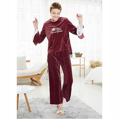 VIWIV Pijamas De Terciopelo De Oro Otoño E Invierno Damas De ...