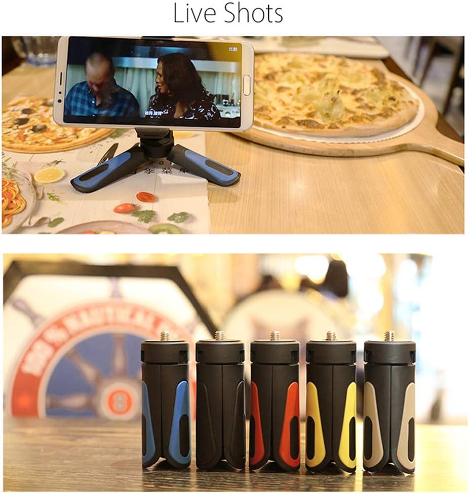 RONSHIN Mini Tripod Phone Clip for Mobile Stand Camera Holder Stabilizer Flexible Head Elevation Angle Black