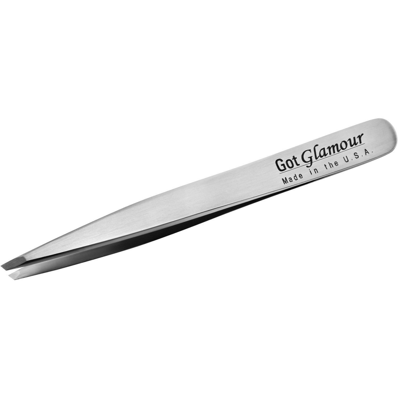 Got Glamour Micro Slant Tweezer, Stainless Steel, Professional Series