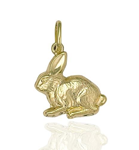 75ca84e7b93 375 9ct Gold Rabbit Charm Pendant.: Amazon.co.uk: Jewellery