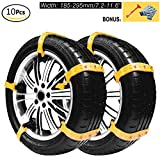 Snow Chains, Anti-skid Tire Chains Anti Slip Snow Tire Chains for Cars and SUVs (10 Pcs/Set)