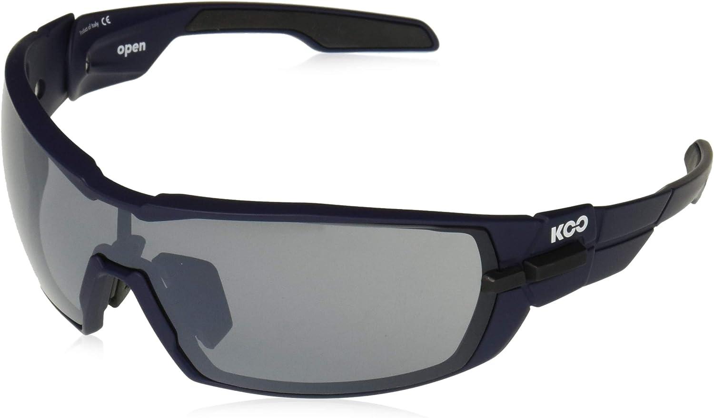 KASK KOO OPEN Sunglasses Lens: Silver Mirror + Clear Pink Matt Blue