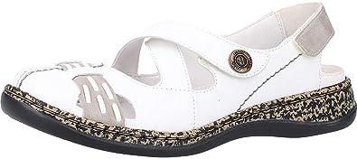 Rieker Damen Slipper Blau: : Schuhe & Handtaschen