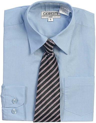 Luz Botón Azul hasta vestido camisa corbata a rayas Set Niños ...