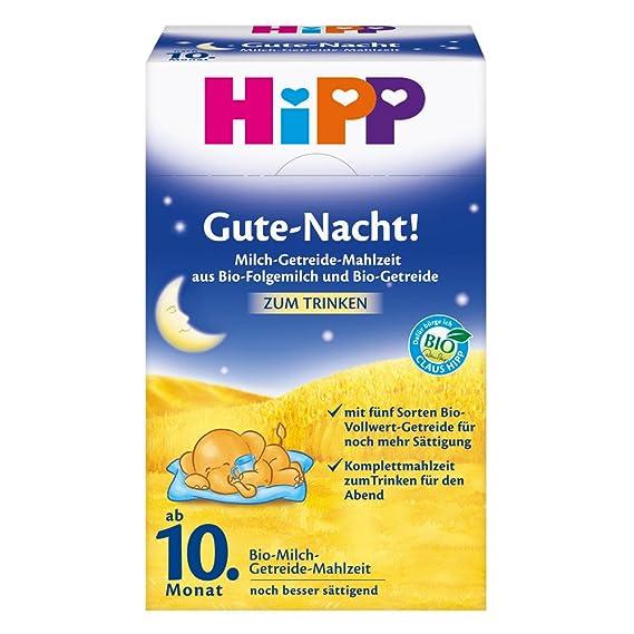 Hipp Goodnight harina de leche orgánica de cereales a partir del 10 º mes, 500g