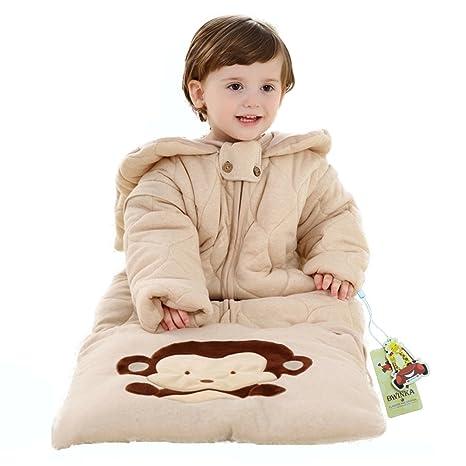 bwinka Extra grueso invierno bebé algodón orgánico Sleepsack manga larga puede separar como dormir manta saco