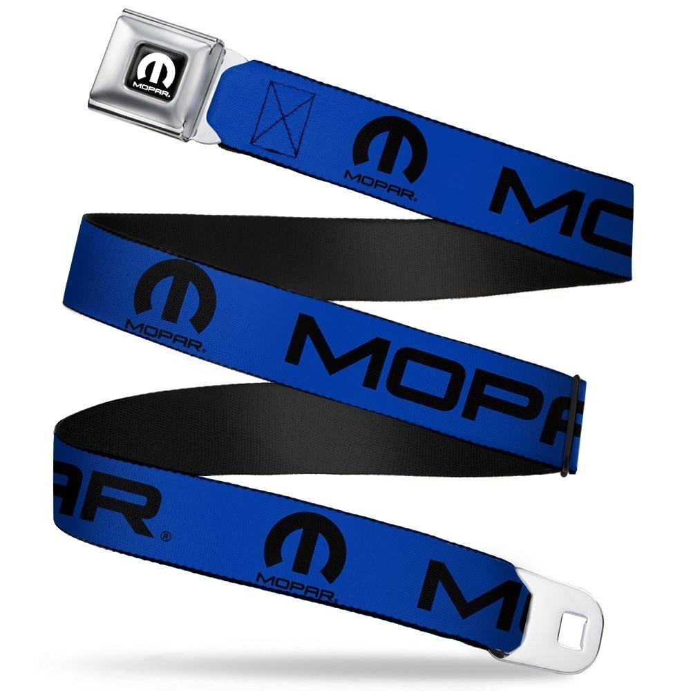 Buckle-Down Seatbelt Belt 20-36 Inches in Length 1.0 Wide MOPAR Text//Logo Blue//Black