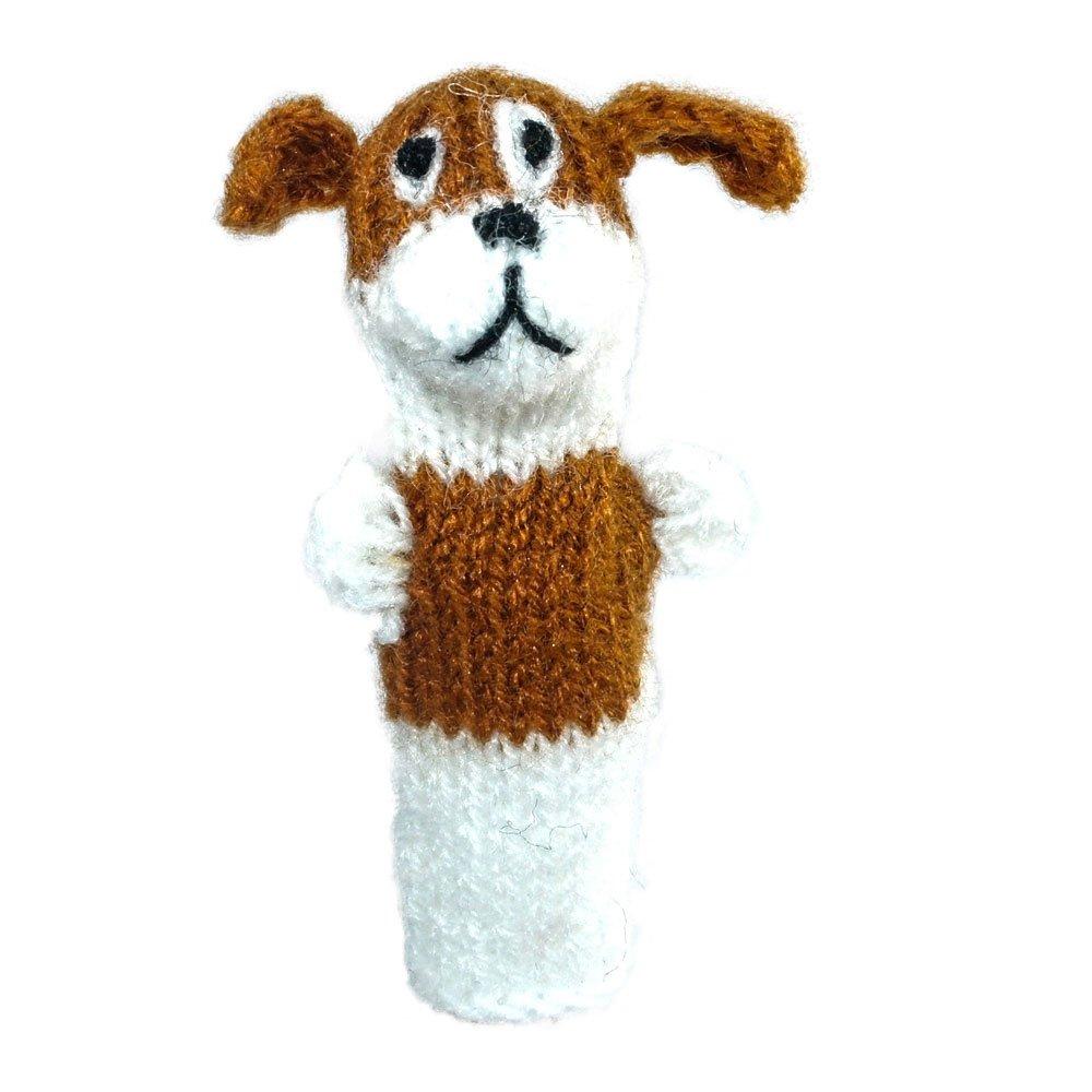Fingerpuppe Hund Kasperltheater Spielzeug zum Spielen und Lernen handgestrickt aus weicher Wolle für Baby und Kinder