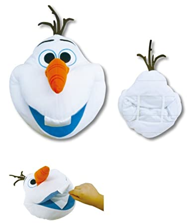 13 Tall Disney Frozen Jumbo Olaf Soft Plush Tissue Box Cover Japan Import.