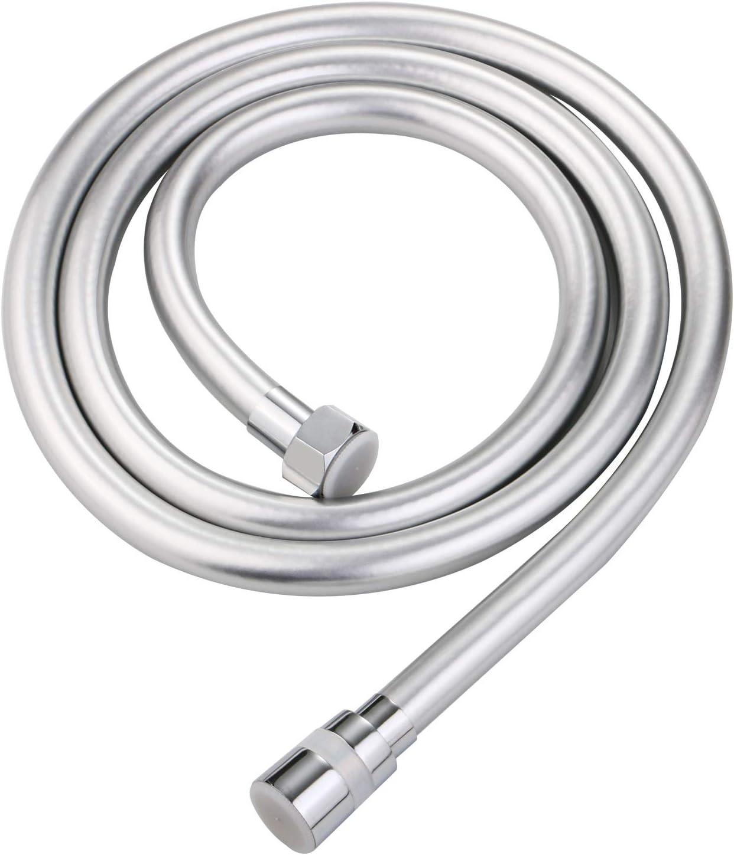Tubo Flessibile Argentato Flessibile per Doccia A Mano Flessibile Tubi Doccia Senza Pieghe Con Connettori G1//2 Tubo Doccia Liscio In Pvc 2,0m Antipiega E Rotazione A 360