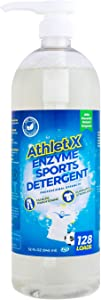 AthletX Enzyme Sports Detergent - 128 Loads - USA Made - 32oz