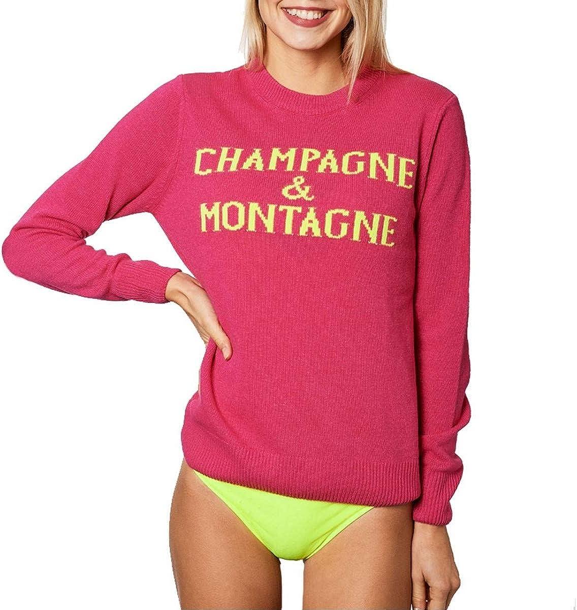 MC2 Saint Barth, Crewneck Sweater Champagne & Montagne, Rosa, MC2_QUE001 MNCH25 Rosa