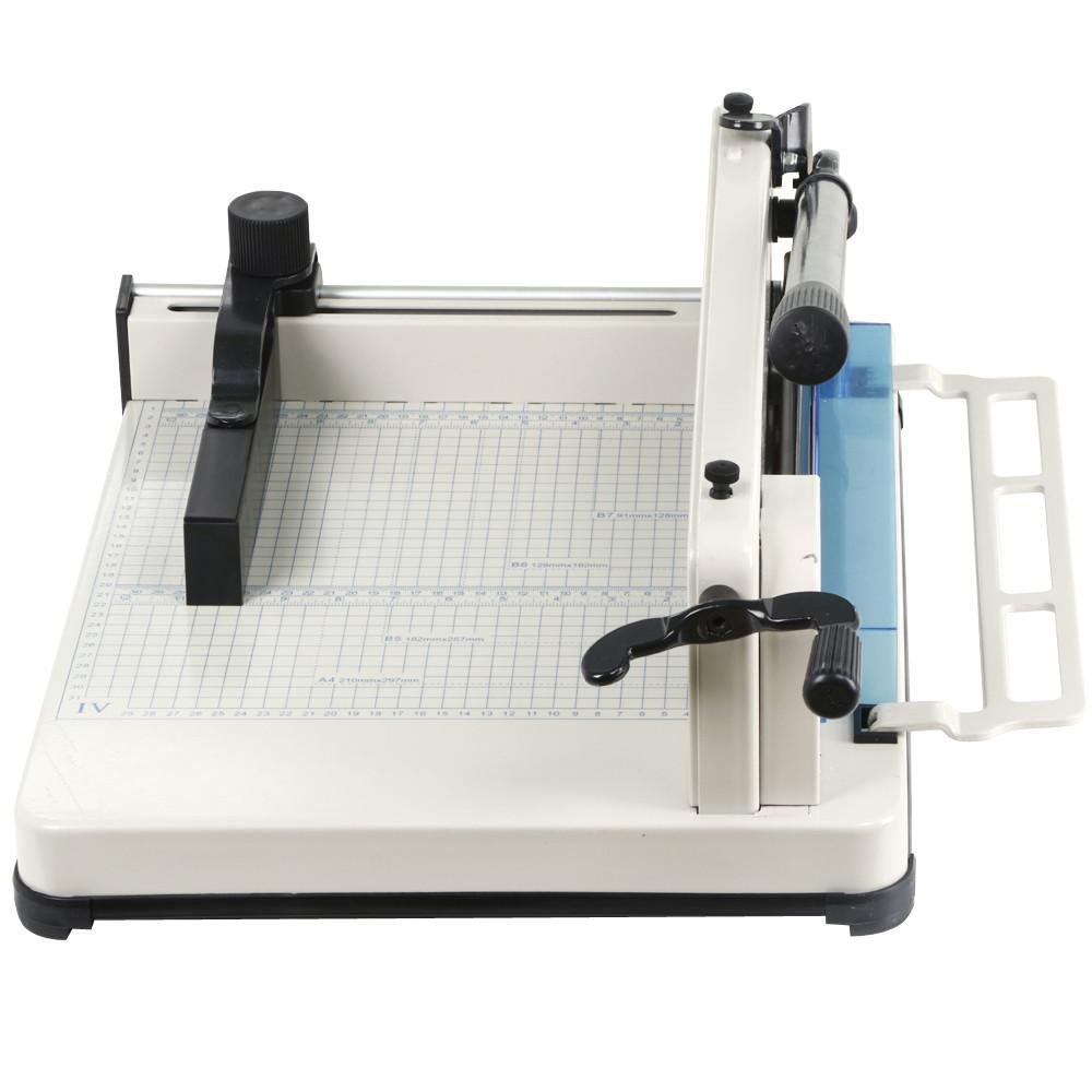 go2buy 12'' Guillotine Paper Cutter A4 Trimmer Machine Professional Industrial Heavy Duty W/Metal Base 400 Sheet Large Capacity for Office Commercial Photocopy Printing Shop