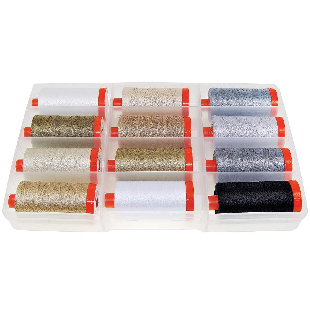 Aurifil Thread THE BASICS COLLECTION by Mark Lipinski 50wt Cotton 12 Large Spools 1300m each by Aurifil   B0054LDMFK