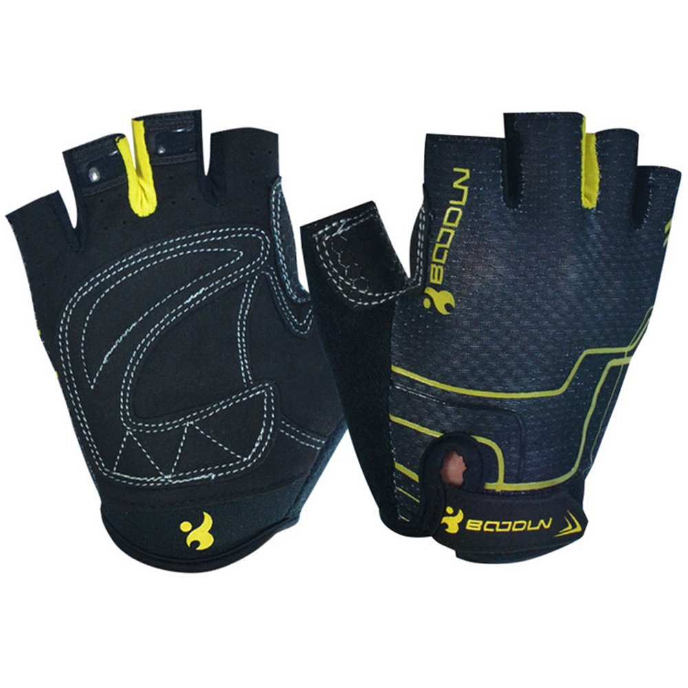 Ezyoutdoor Unisex Half Finger Glove Breathable Biking Bicycle Gloves for Exercise Outdoor Sports Riding Racing Equipment