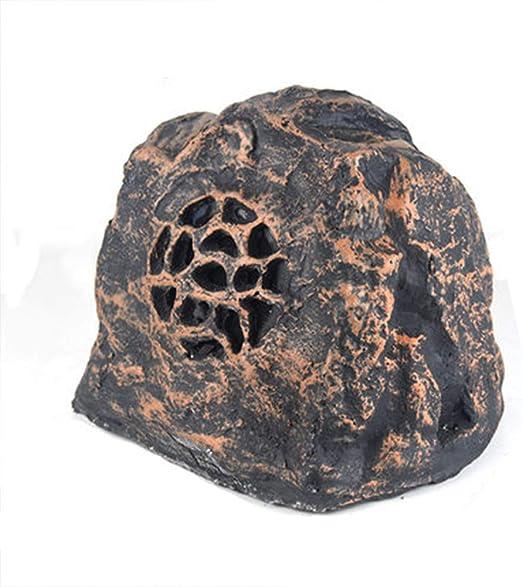 GYJ Altavoces Impermeables para Exteriores, Altavoces para jardín, Sistema de Altavoces, Mini Amplificador inalámbrico, Amplificador estéreo de Piedras Decorativas de vatio: Amazon.es: Hogar