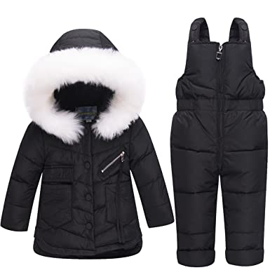 6c9fc3948 Amazon.com  JELEUON Baby Girls Two Piece Winter Warm Hooded Button ...