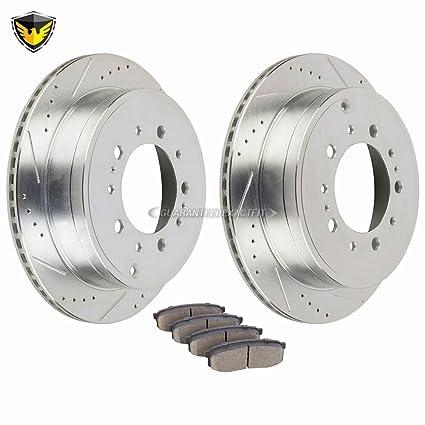 Amazon.com: Duralo Rear Brake Pads And Rotors Kit For Toyota Tundra Sequoia Land Cruiser Lexus LX570 - Duralo 153-1117 New: Automotive
