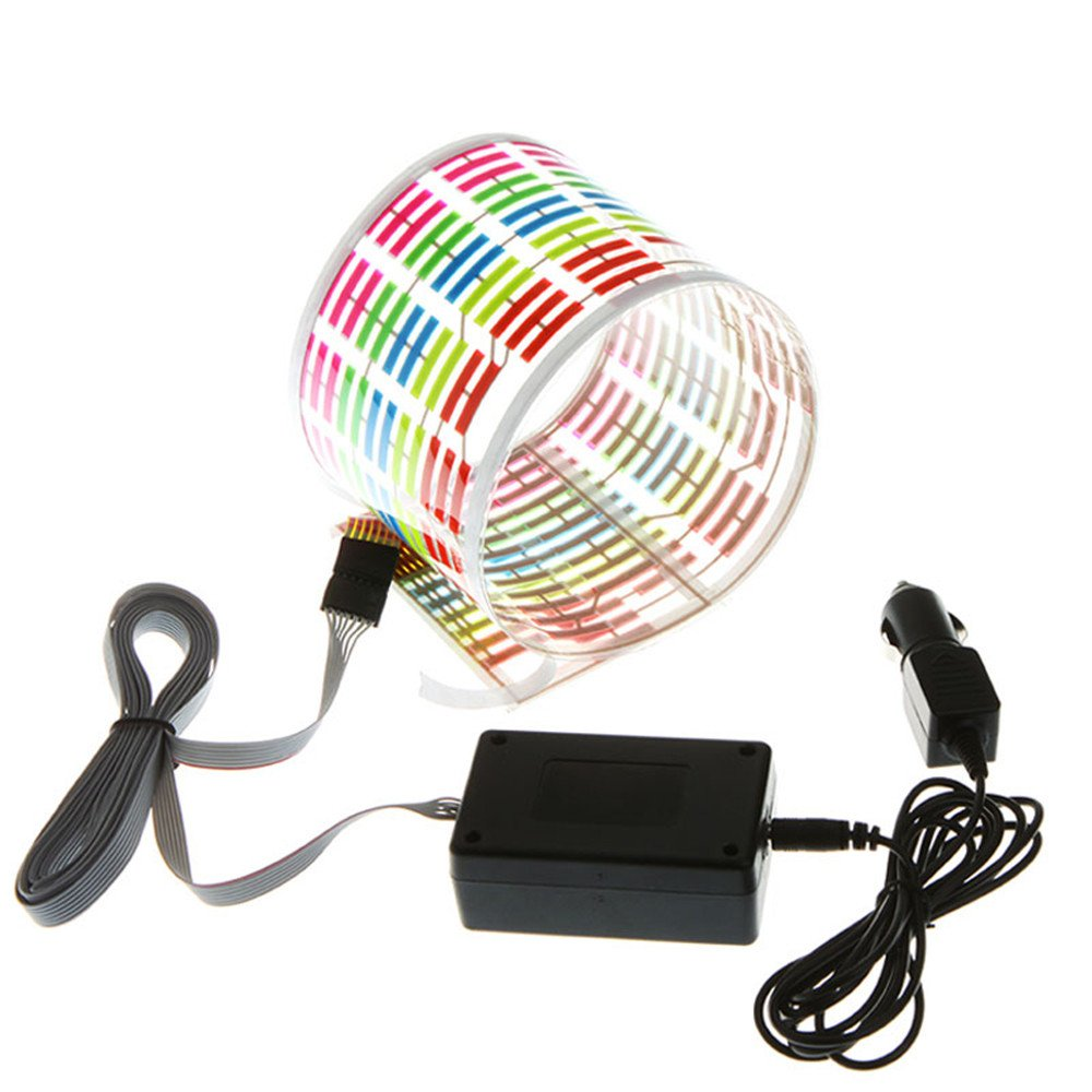 Fochutech Sound Music Beat Activated Car Stickers Equalizer Glow Flash LED Light Audio Voice Rhythm Lamp 90X25cm