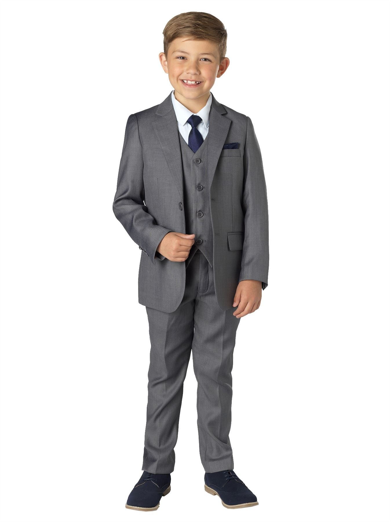 Paisley of London, Sampson Gray Slim Fit Suit, Boys Occasion Wear, Kids Wedding Suit, 16