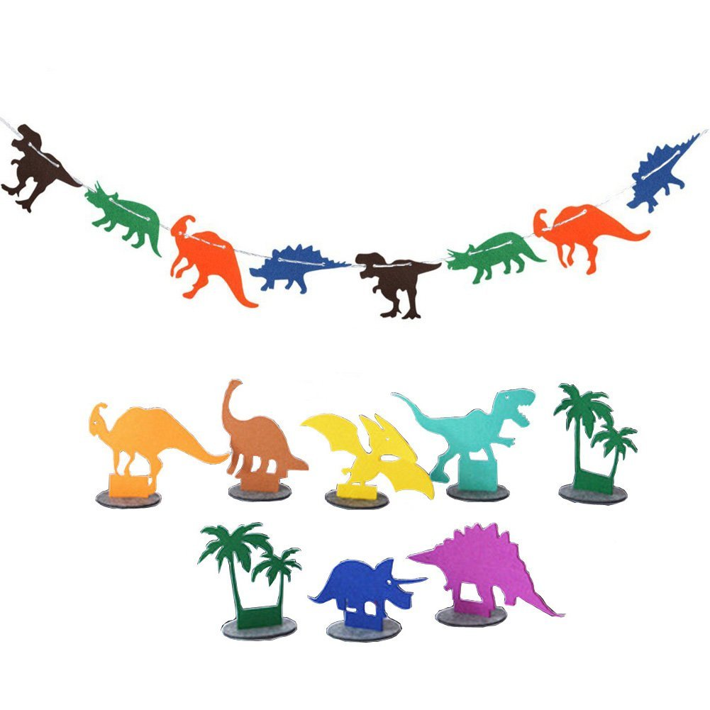 DinoパーティーDecorations Supplies恐竜誕生日バナージャングルJurassic Bunting Garland for Kids/Boys   B07FZS577B