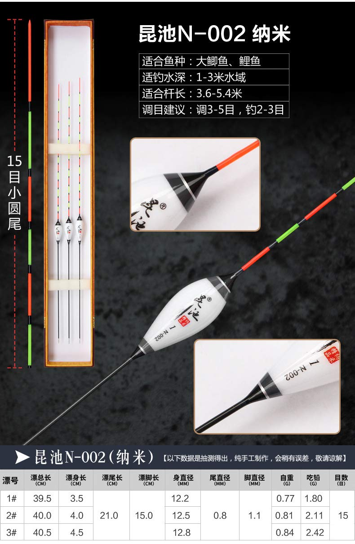 Arichtop 3pcs Angelkork Kit Verschiedene Gr/ö/ßen Bobber Tackle-Tool Zubeh/ör Nanokomposit Angelausr/üstung