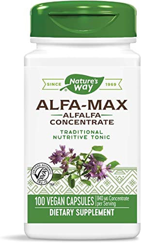 Nature s Way Premium Herbal Alfa-Max, 840 mg concentrate per serving, 100 Capsules