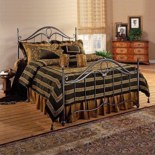 Hillsdale Kendall Metal Bronze - Hillsdale Furniture 1290BQR Kendall Bed Set with Rails, Queen, Bronze
