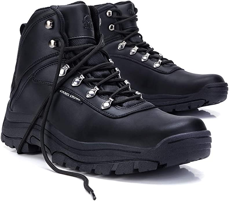 CAMEL CROWN Chaussures de Randonn/ée Hautes Homme L/ég/ère Chaussure de Marches Maintien Bottes Montantes de Randonn/ée Noir Marron 40-46