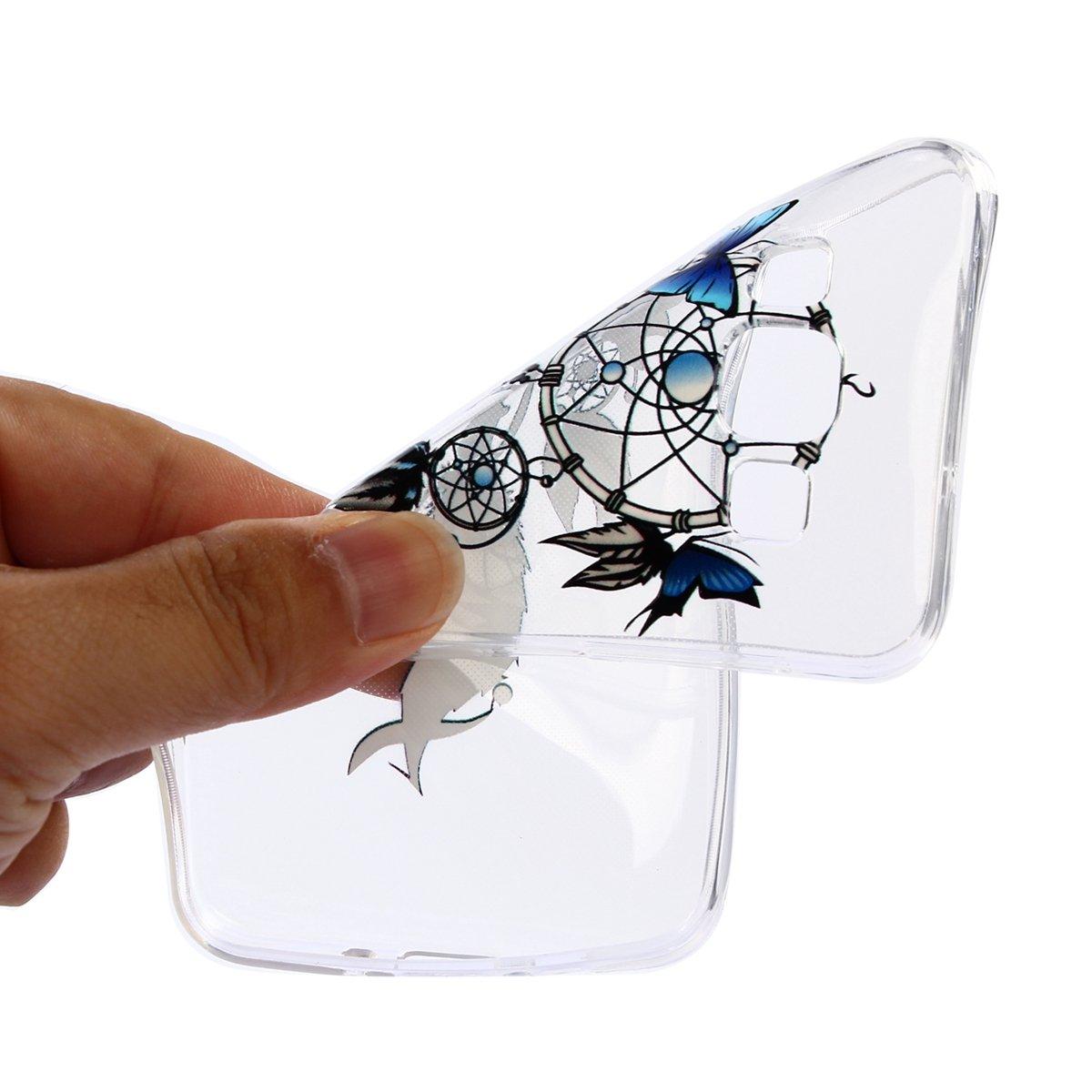SainCat Custodia Galaxy A3 2015 Ultra Slim Custodia Trasparente Silicone Morbido Shock-Absorption Cover per Samsung Galaxy A3 2015-Lace Pattern