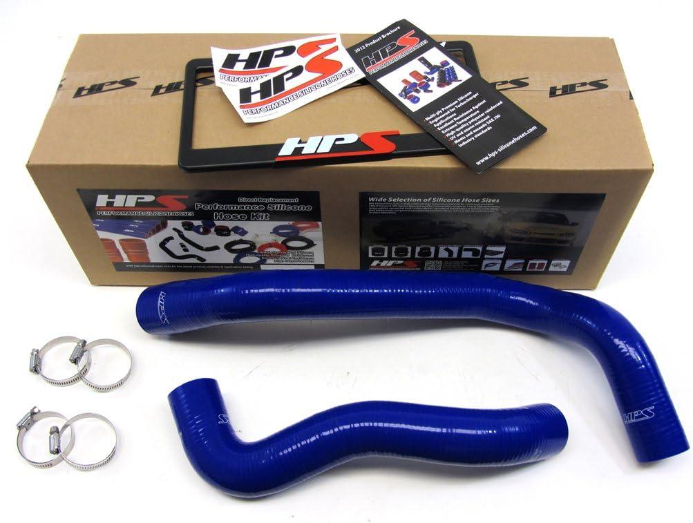 HPS 57-1074-BLUE-2 Blue Silicone Radiator Coolant Hose Kit