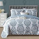 Oversized King Size Quilt Sets Gravan 3-Piece King Quilt Sets with Shams ❤️ Oversized Bedding Bedspread Coverlet Set ❤️ Elegant Floral Printed