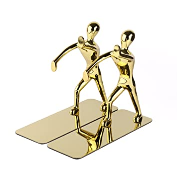 Bestmemories Kung Fu Bookends Stand Innovative Office Supplies Stationery  Fashionable Stainless Steel Humanoid Bookends Racks