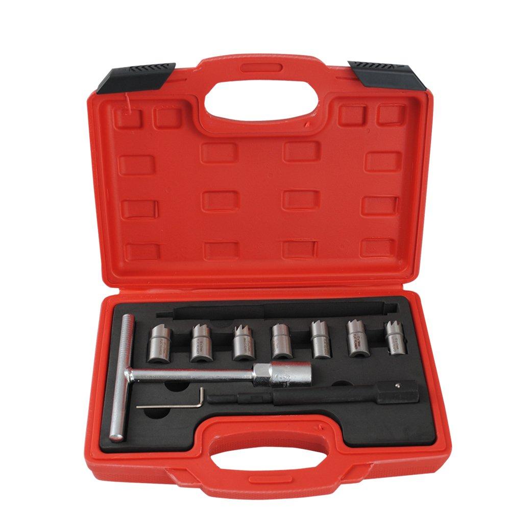 10tlg CDI Motor Injektor Injektore Fräser Dichtsitzfräser inspritzdüsen Werkzeug