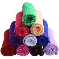 10PCS Ultra Soft Microfiber Towel Car Washing Cloth for Car Polish& Wax Car Care Styling Cleaning Microfibre 25 * 25cm-10Pcs Random Color