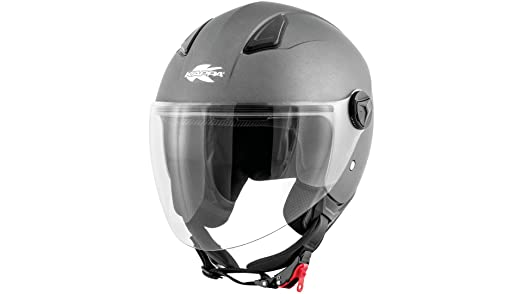 hkkv28bg76855 KV28 Miami Jet Helmet Matt Titanium TG 55 S  Amazon.co.uk   Car   Motorbike d66ba9c5e8
