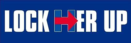 Amazon Com Lock Her Up Bumper Sticker Pro Trump Anti Hillary