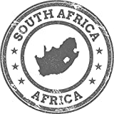 South Africa Map Africa Grunge Rubber Stamp Home Decal Vinyl Sticker 12'' X 12''