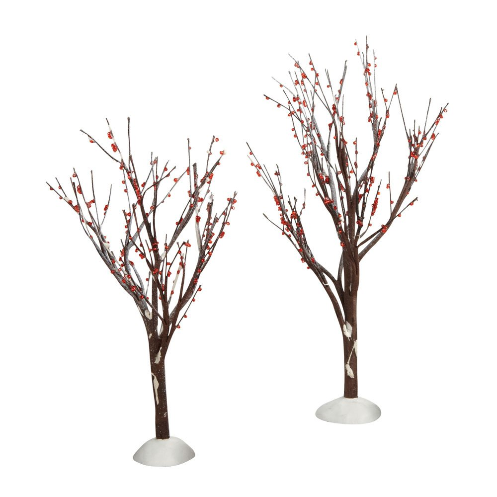 Department 56 Accessories for Villages Winter Berry Trees Accessory Figurine