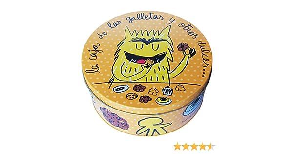 Laroom Caja metálica, Metal, Naranja: Amazon.es: Hogar