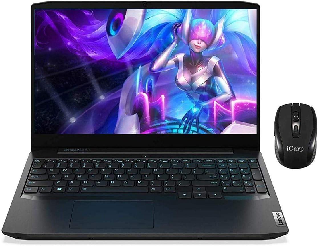 "2020 Latest Lenovo Ideapad 3 Gaming Laptop 15.6"" FHD IPS 120Hz Intel Quad-Core i5-10300H (Beats i7-8850H) 64GB DDR4 256GB SSD + 2TB SSD 4GB GTX 1650 Backlit Dolby HDMI Win 10 + iCarp Wireless Mouse"