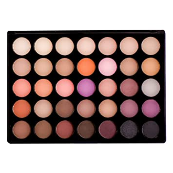 Amazon.com: 35 Color Paleta Sombra de Ojos Cálido: Beauty