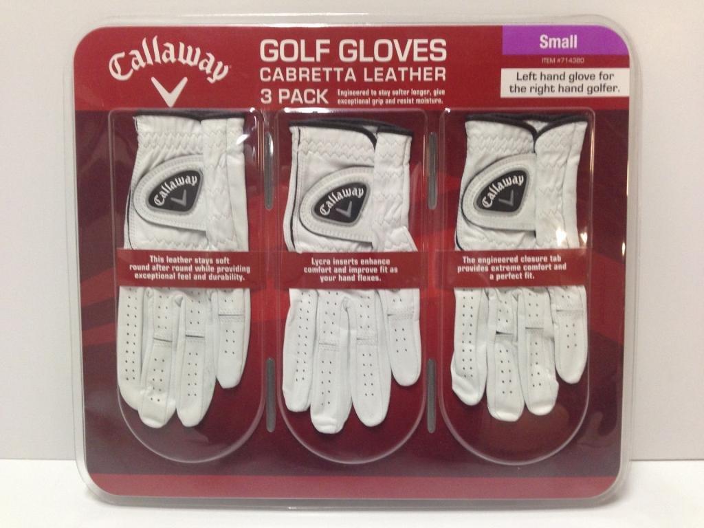 4卸売ロット3パックCallaway羊革ゴルフグローブSサイズ、12ゴルフグローブ合計   B00NJ06NV8