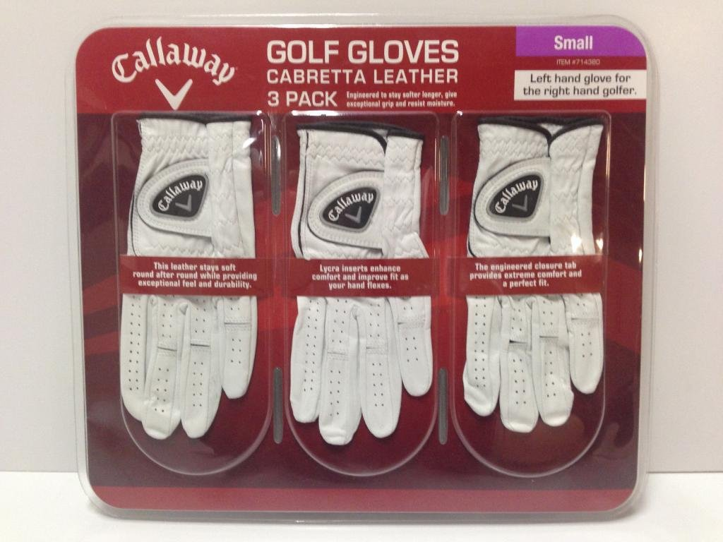 4 Wholesale Lots 3 Pack Callaway Cabretta Leather Golf Gloves Size Small, 12 Golf Gloves Total by SSW Wholesalers (Image #1)