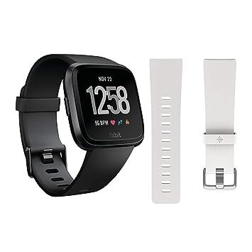 Amazon.com: Fitbit Versa Smartwatch (negro) con banda de ...