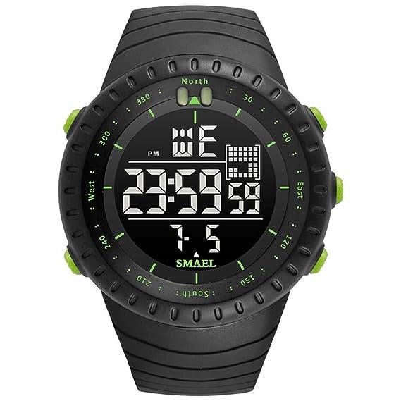 Beydodo Reloj Multifunción Relojes Electronicos Reloj Hombre Moda Relojes Unisex Relojes LED Reloj de Doble Pantalla Reloj Deportivo Verde: Amazon.es: ...