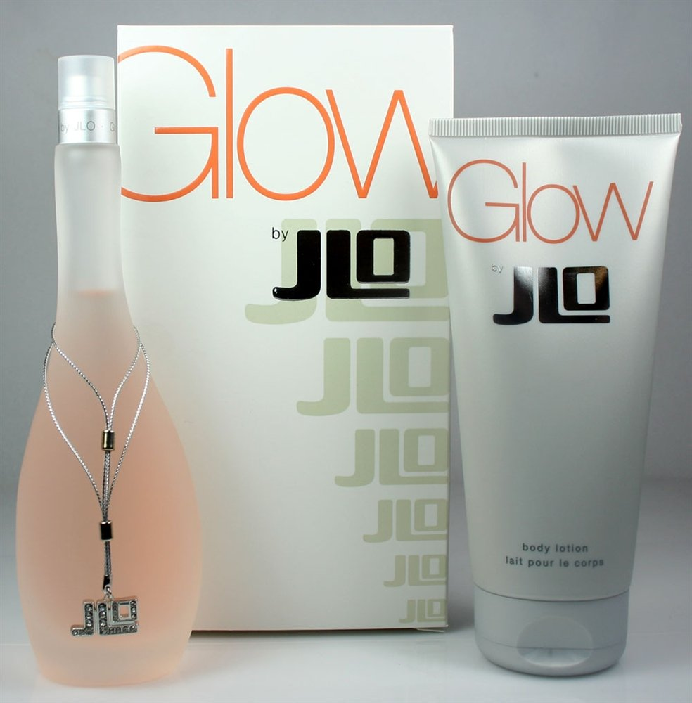 Jennifer Lopez Glow Gift Set for Women (Eau De Toilette Spray, Body Lotion)