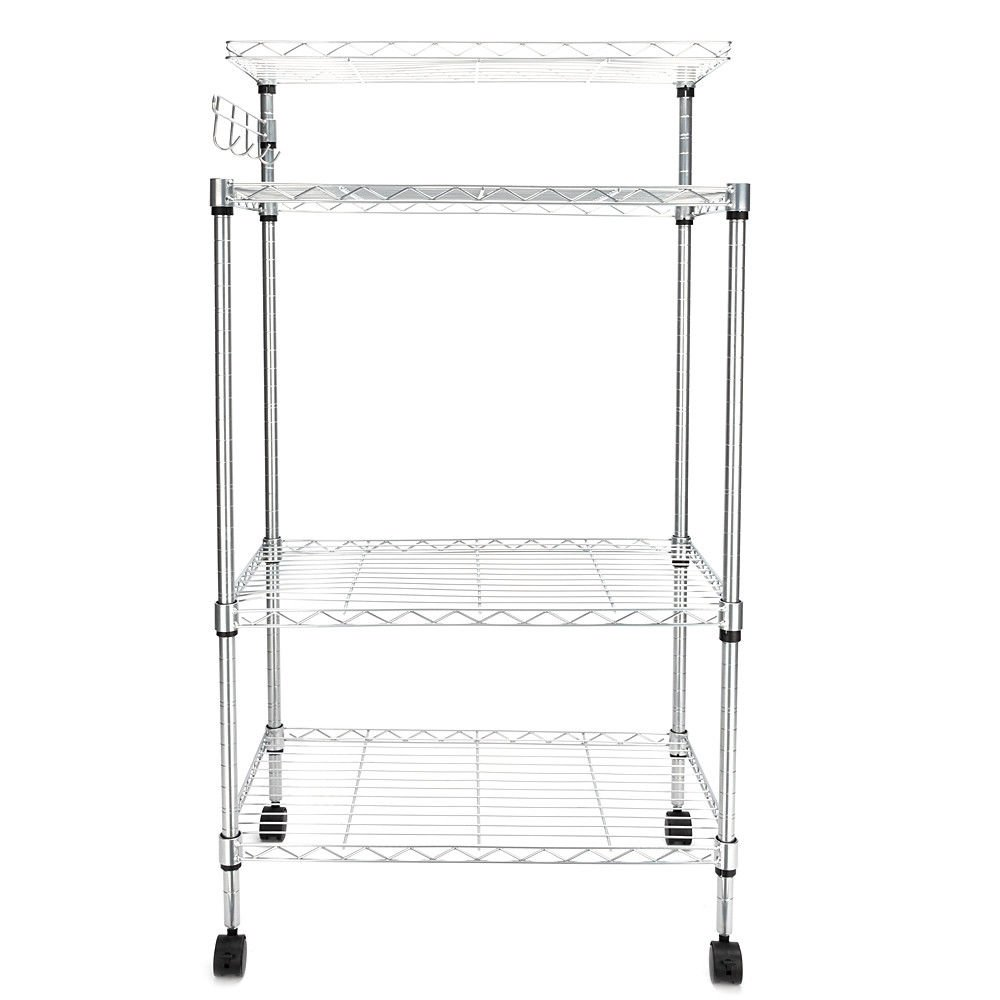 TimmyHouse 4Tier Kitchen Bakers Rack Microwave Oven Stand Storage Cart Workstation Shelf US by TimmyHouse (Image #1)