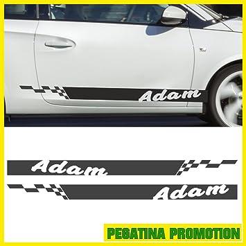 2 Pcs 000 Cm Viper Stripes Opel Adam 140 X 14 Cm